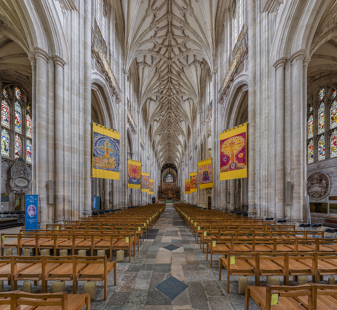 Winchester Cathedral - The nave viewed from the west looking towards the choir. Credit: David Iliff