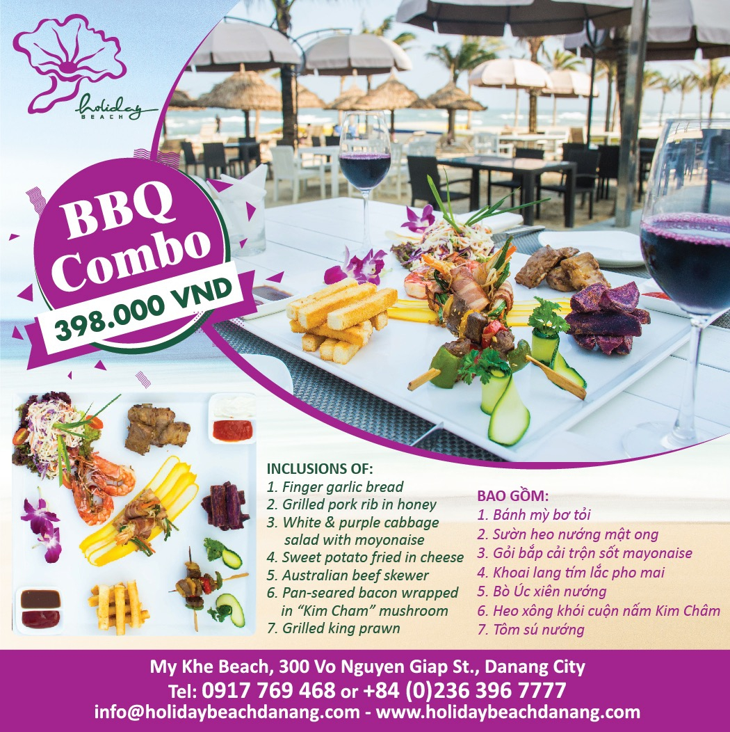 The Holiday Beach Club - BBQ COMBO chỉ với 398.000 VNĐ