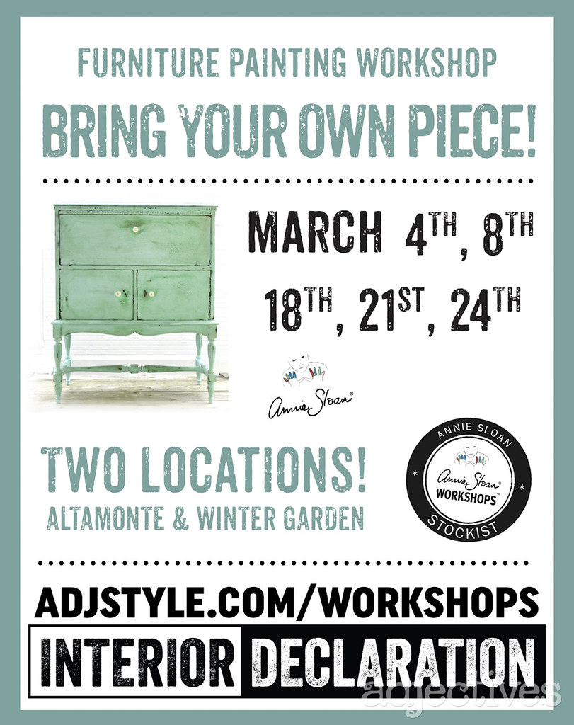 Furniture Painting Workshops at Adjectives