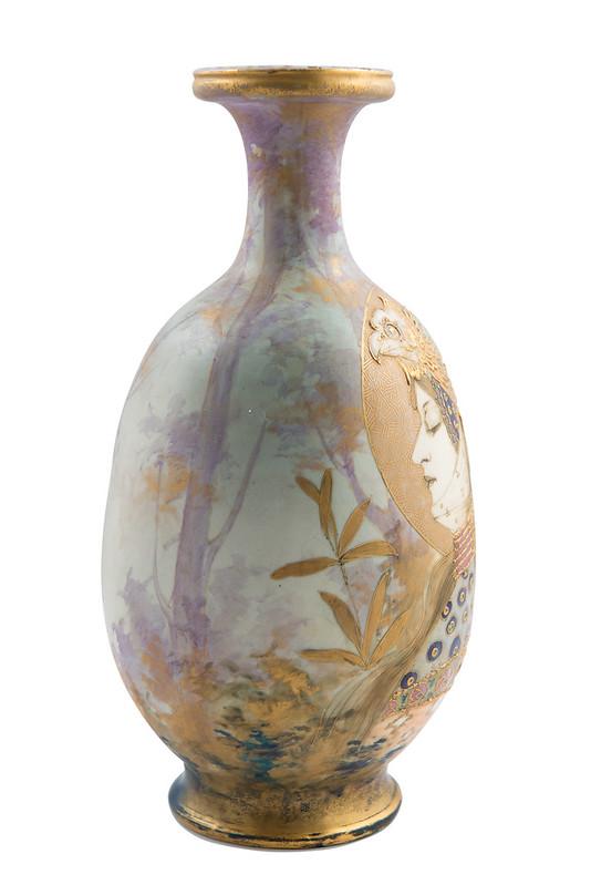 amphora portrait vase allegorie deutschland riessner stellmacher kessel ebay. Black Bedroom Furniture Sets. Home Design Ideas