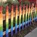 Rainbow fence   #theaugustbreak