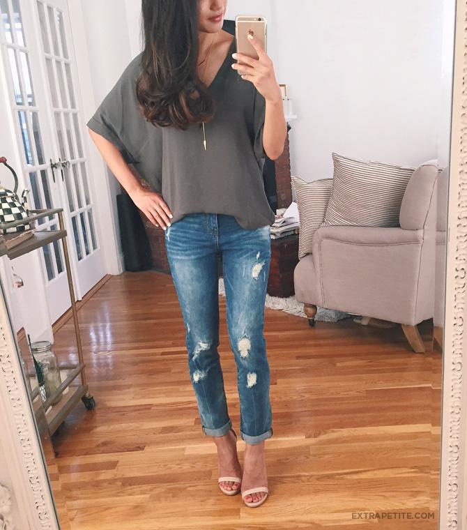 petite tee boyfriend jeans