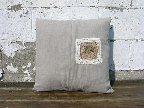 extra granny square pillow