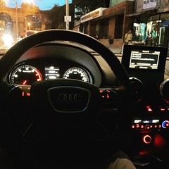 We've got a fast car to take us out of here... #Audi #audia3 #audia3sedan #tracychapman #rushhour #trafficjam #Guatemala