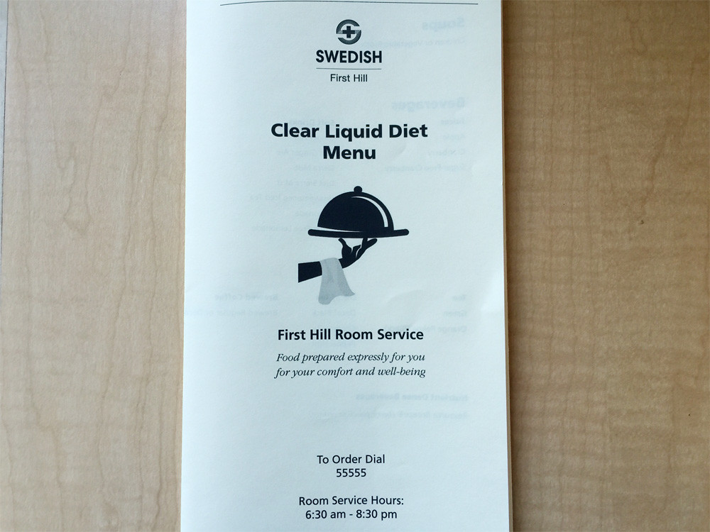 Clear Liquid Diet Menu 1