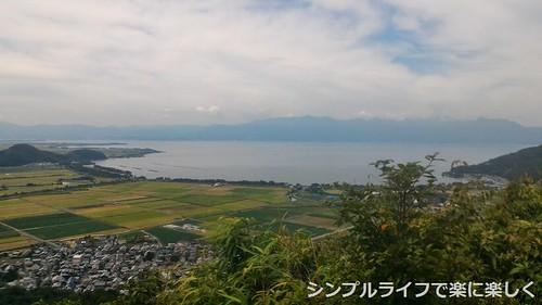 頂上、琵琶湖風景