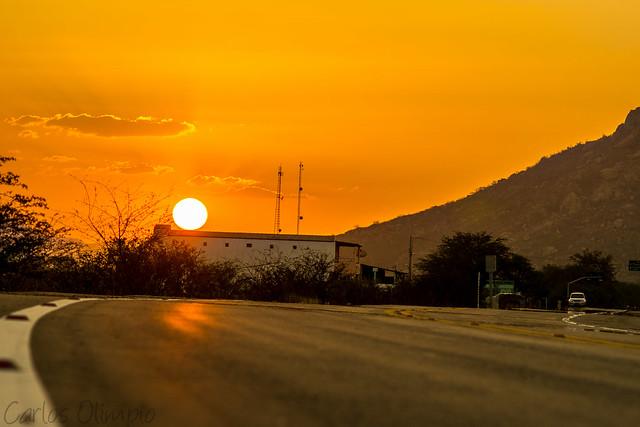 Pôr do Sol na BR222