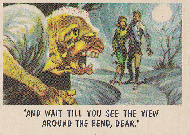 """""""You'll Die Laughing"""" Topps trading cards 1959,  illustrated by Jack Davis (47)"""