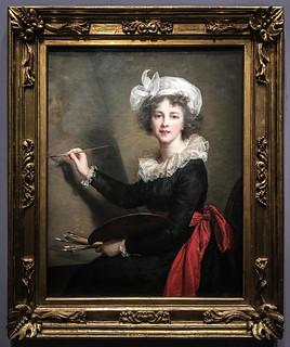 L'artiste exécutant un portrait de la reine Marie-Antoinette - 1770 - Elisabeth Louise Viguée Le Brun