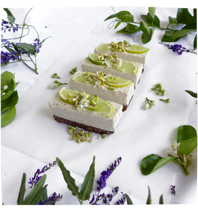 Raw Coconut and Lime Cheesecake