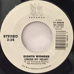 EIGHTH WONDER:CROSS MY HEART(LABEL SIDE-A)