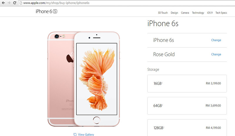 iphone6s prices 2015