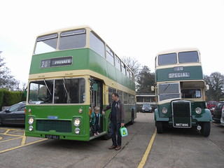 Vintage buses at Sheffield Park