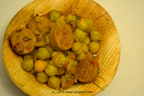 Green chana and sausage