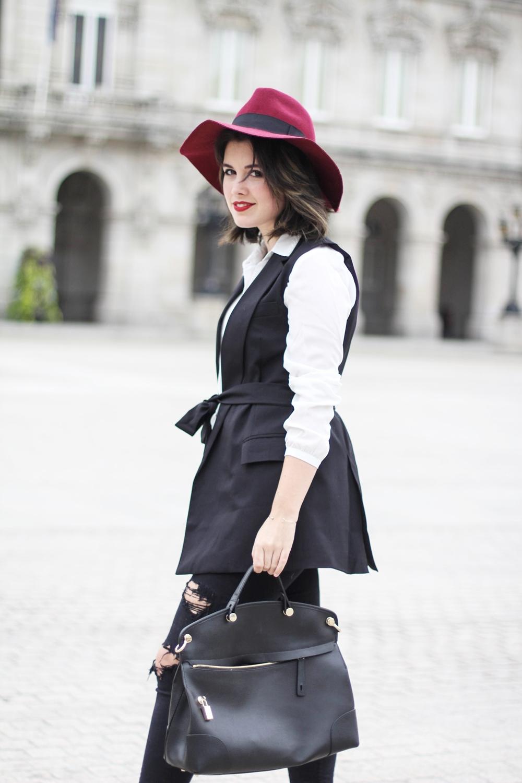 look elegante con chaleco de vestir negro choies streetstyle myblueberrynightsblog