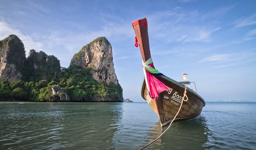 Boat in the Bay - Railay Beach