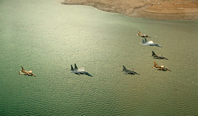 In Formation over the Dead Sea