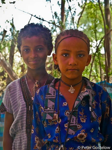 Young Ethiopian girls
