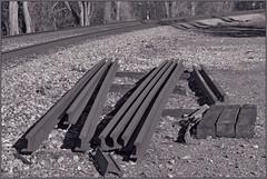 Track Rails -- Manassas Gap Railroad The Plains (VA) October 2015