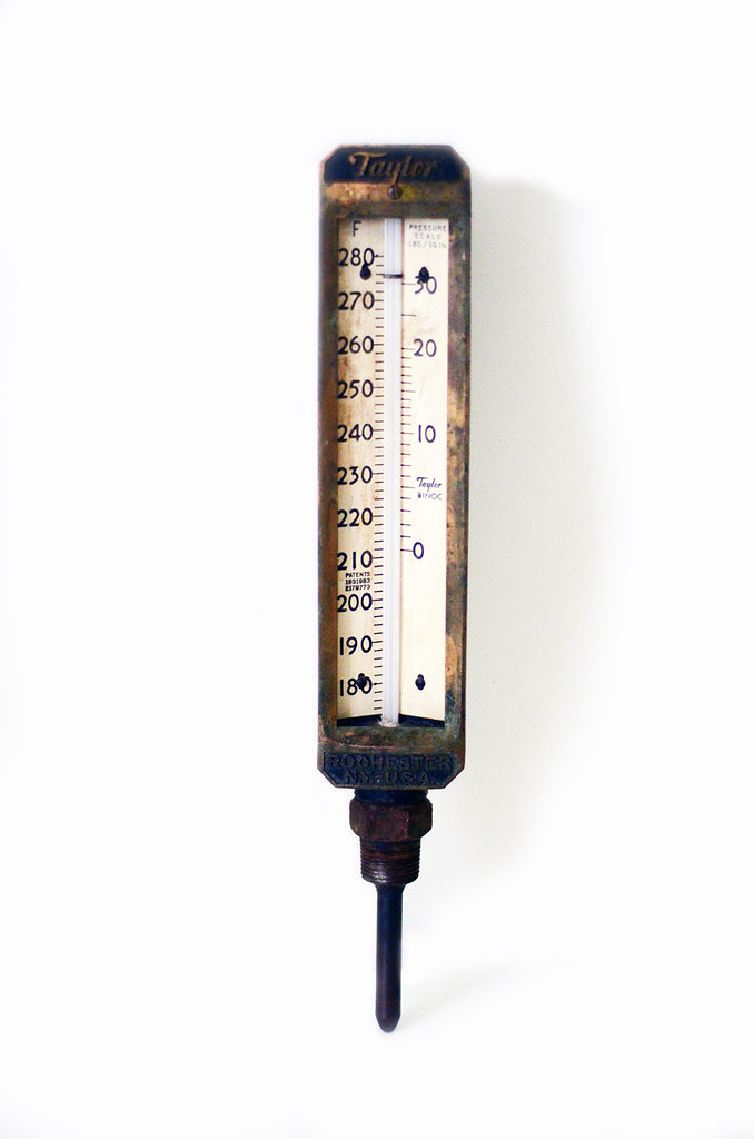 Vintage Industrial Taylor Thermometer