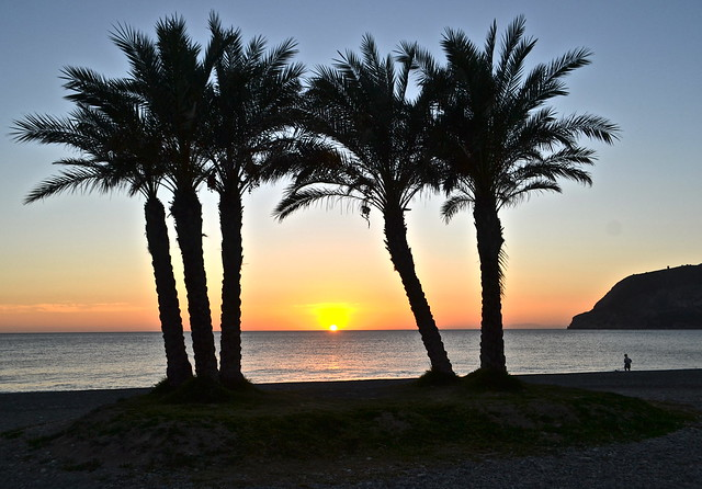 sunset - playa la herradura spain