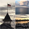 Balboa and Catalina island at sunrise.