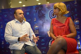 Omar de la Cruz en el Programa A Imagen con Aleja Flores. Blue Mall-3