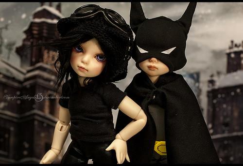Chibi bat and cat