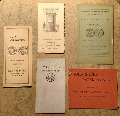 Numismatic pamphlets from 2015 NBS auction