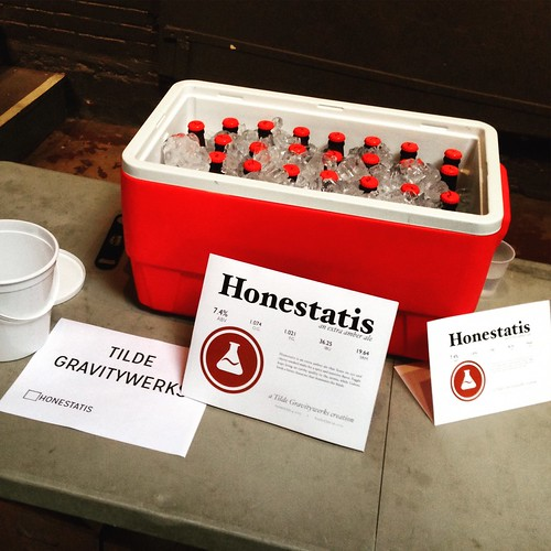 Honestatis: all set up and ready to pour. #homebrewing