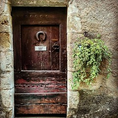 Simple wooden #door in Durfort, a small #village in #gard #languedoc #france   #cevennes #beautifulfrance #magnifiquefrance