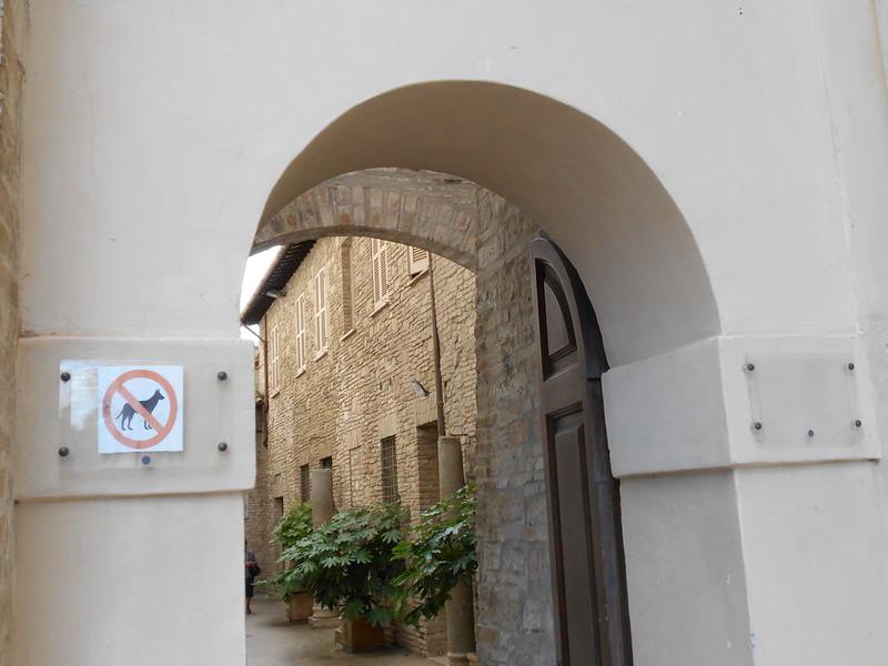 divieto ingresso cani, santuario San Francesco, Assisi