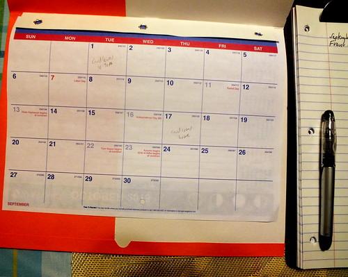 September 2015 Diary