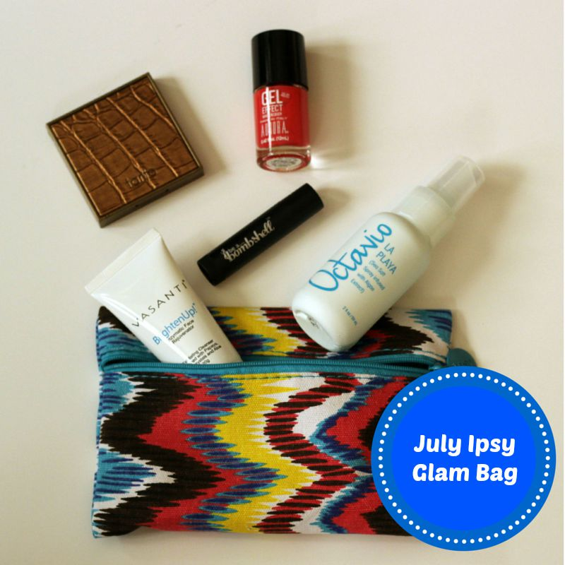 July 2015 Ipsy Glam Bag review