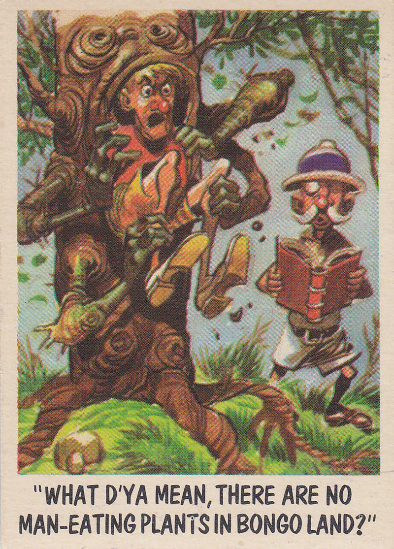 """""""You'll Die Laughing"""" Topps trading cards 1959,  illustrated by Jack Davis (08)"""