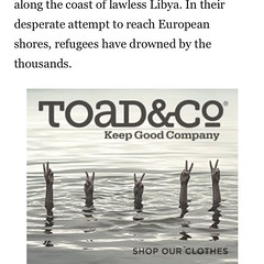 Yo, this is an incredibly insensitive ad @toadandcoclothing @outsidemagazine seriously what is wrong with you