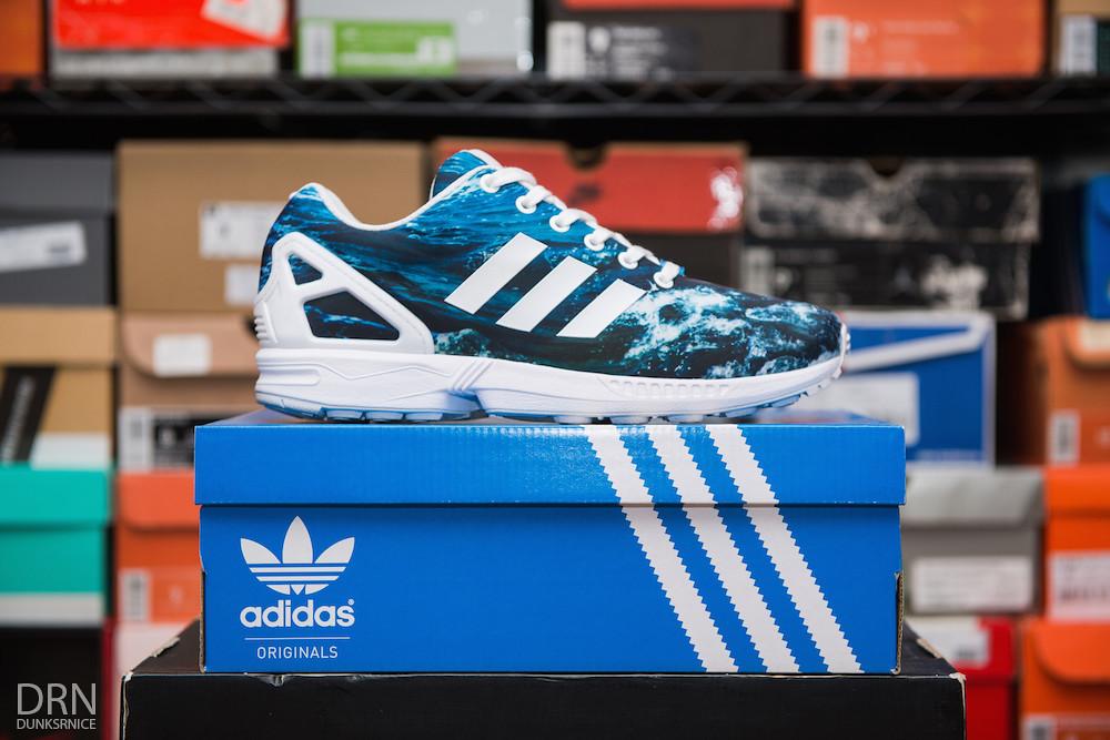 Ocean Adidas ZX Flux's.