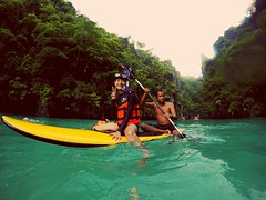 Kayaking in small lagoon! #elnido #palawan