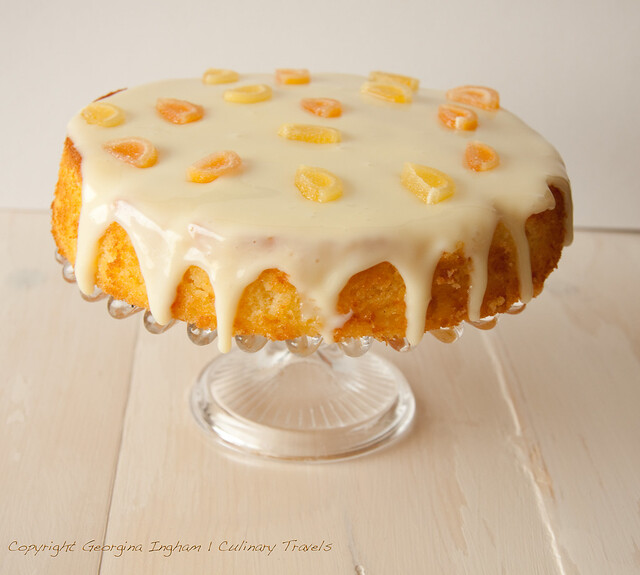 Georgina Ingham | Culinary Travels Photograph - Citrus Sponge Drizzle Cake