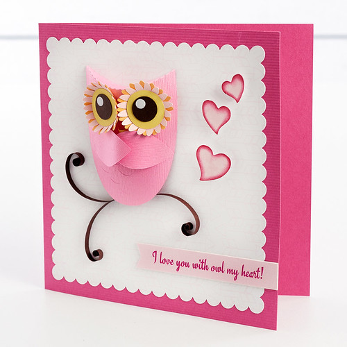 Paper Sculpture Owl Card