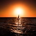 sailboat at sunset - Hertzelia beach by Lior. L