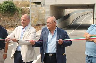 Il sindaco Vitto e Salvatore Colella all'inaugurazione del sottopasso di San Francesco