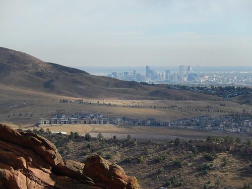 Red Rocks Amphitheatre - Denver skyline