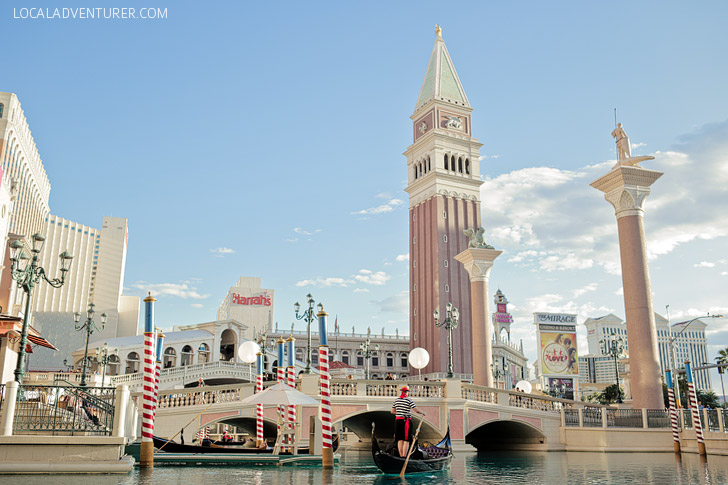 The Venetian Gondola Ride Vegas.