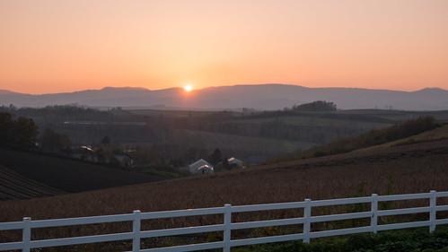 新栄の丘の夕陽