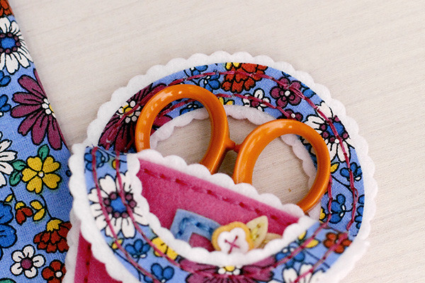 Line Your Stitched Scissor Keeper with Pretty Fabric