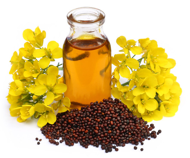 Mustard Oil With Flower