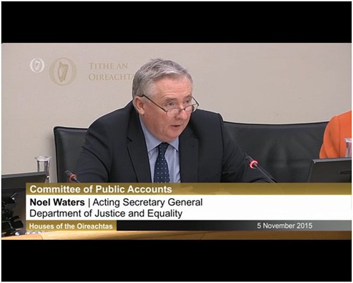 Noel Waters, Secretary General (Acting) attends the Public Accounts Committee