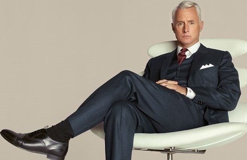 mad men crossed legs