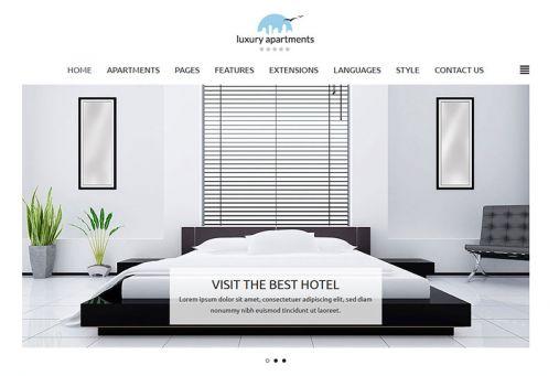 JoomlaMonster JM Apartments v1.00 - Minimalist Joomla 3.x Hotel Template
